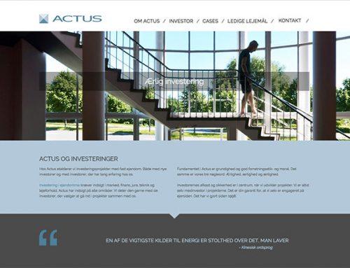 Nyt webdesign til ejendomsinvestering