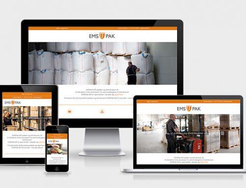 Hjemmeside til lagerhotel og pakkevirksomhed
