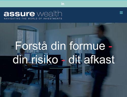 Nyt website til fintech-virksomhed